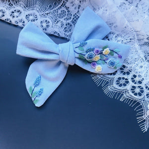 Embroidery Art Hair Bow - Skye