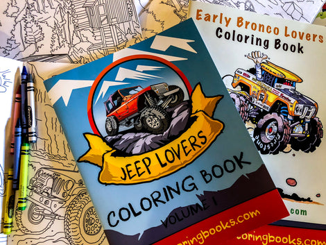 4x4 Coloring Book Bundles | Free Shipping