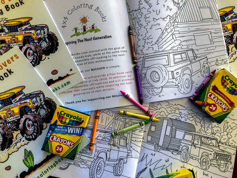 Complete Selection Of Off Road Inspired Coloring Books