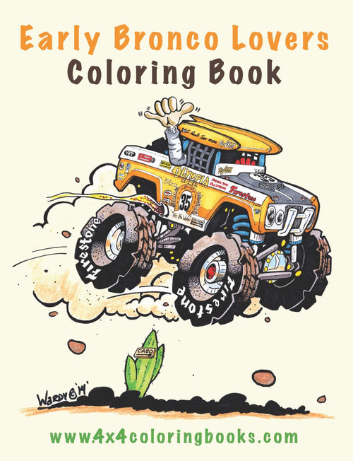 Cover page from our Early Bronco Coloring Book