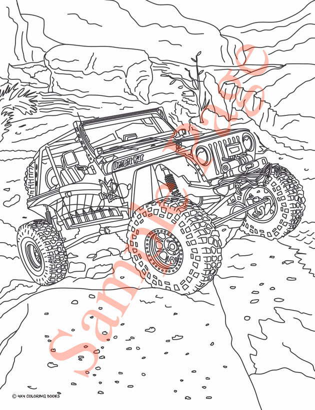 4x4 Jeep Coloring Pages Book | FREE SHIPPING