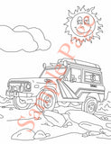 Early Ford Bronco Coloring Page with Stroppe Balloon Chaser Bronco