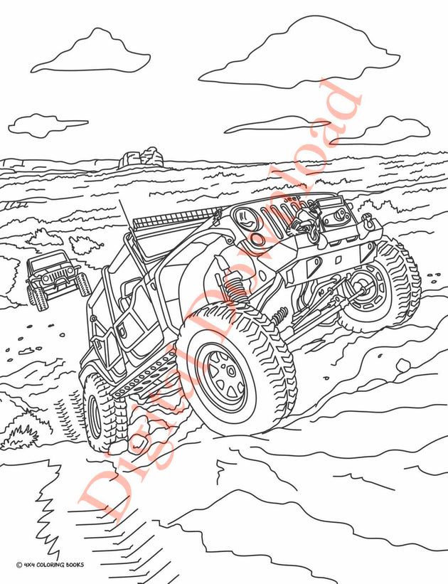 Jeep Coloring Book Page 12 Digital Download on page layout design, page 259 love i land, page layout for a novel, page protectors, page 86 big book, page imposition,