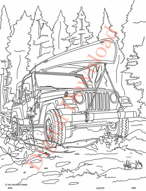 Jeep Lovers Coloring Book | DOWNLOAD NOW