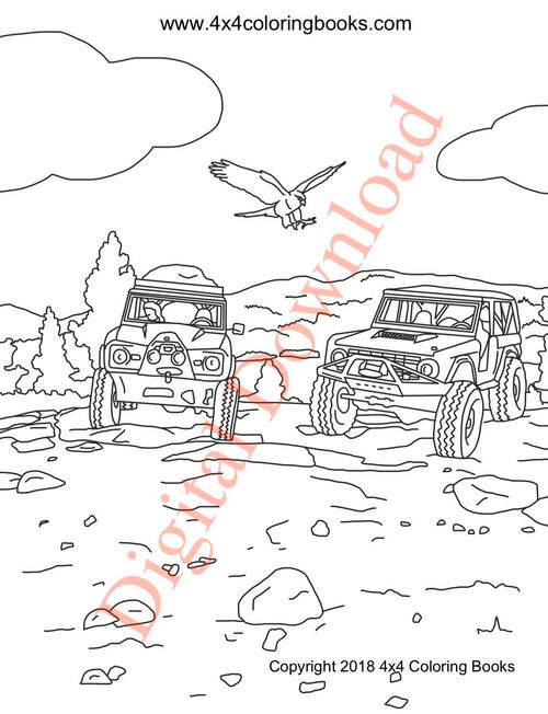 Early Bronco Coloring Book Page 20 Digital Download