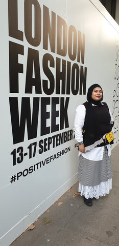 Sheila at London Fashion Week 2019