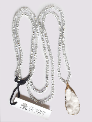 Forrest Necklace with crystal and druzy