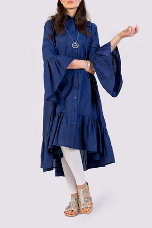 Oversized cotton shirtdress by Attitude157