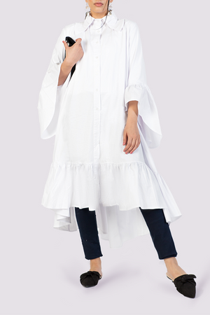 White oversized cotton shirtdress from Attitude157