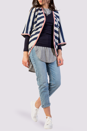 Striped Kimono Cover Up