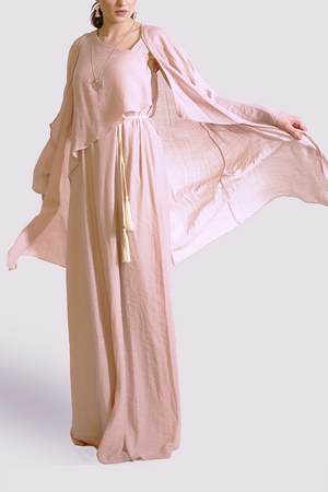 Moutaki long cardigan in pink