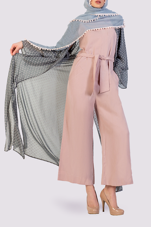 Moutaki pink jumpsuit with collar