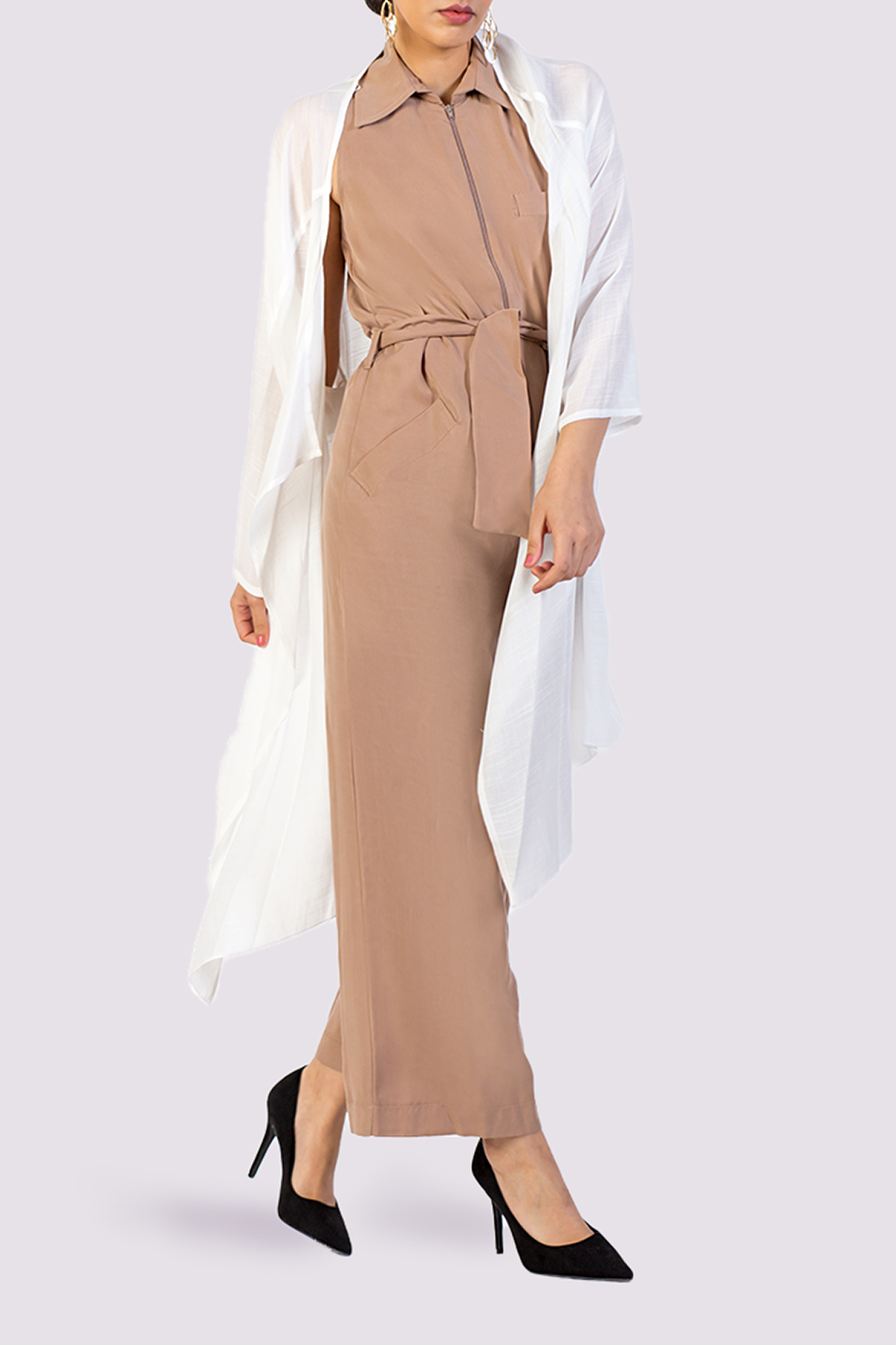 Moutaki jumpsuit with collar