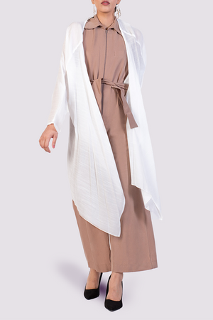 Long white cardigan coverup