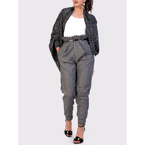 Attitude157 Woollen Paperbag Trousers