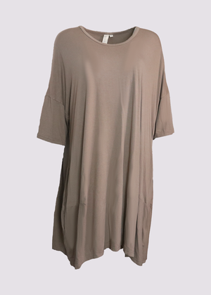 Rhum Raisin Avignon oversized t-shirt in khaki
