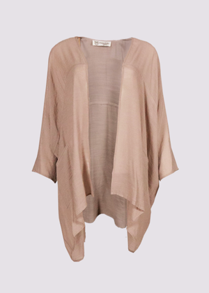 Oversized cardigan coverup by Moutaki in Cigar