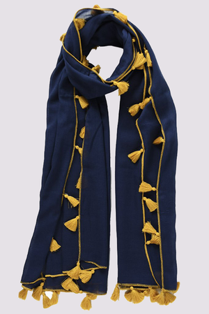 MSH navy blue scarf for women