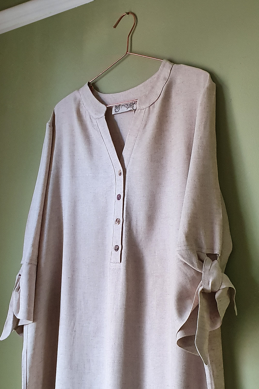 Moutaki Beige Kaftan Dress