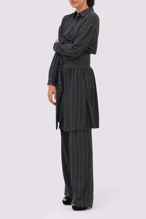 Moutaki Grey Striped Trousers