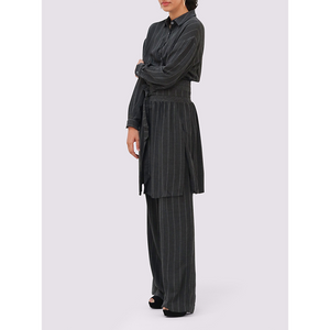 Moutaki Charcoal Striped Trousers