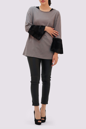 Moutaki Grey Top for ladies