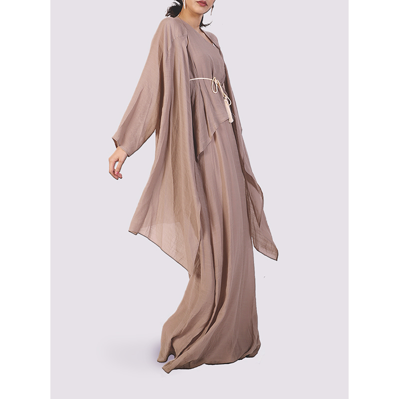 Moutaki Long Coverup in light brown