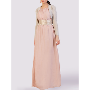 Moutaki Pink Dress with Sash Belt