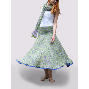 Nila Rubia 50 Panels Skirt in Green