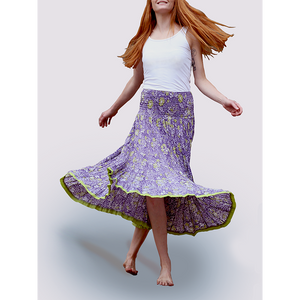 Nila Rubia 50 Panels Skirt in Lilac and Lime
