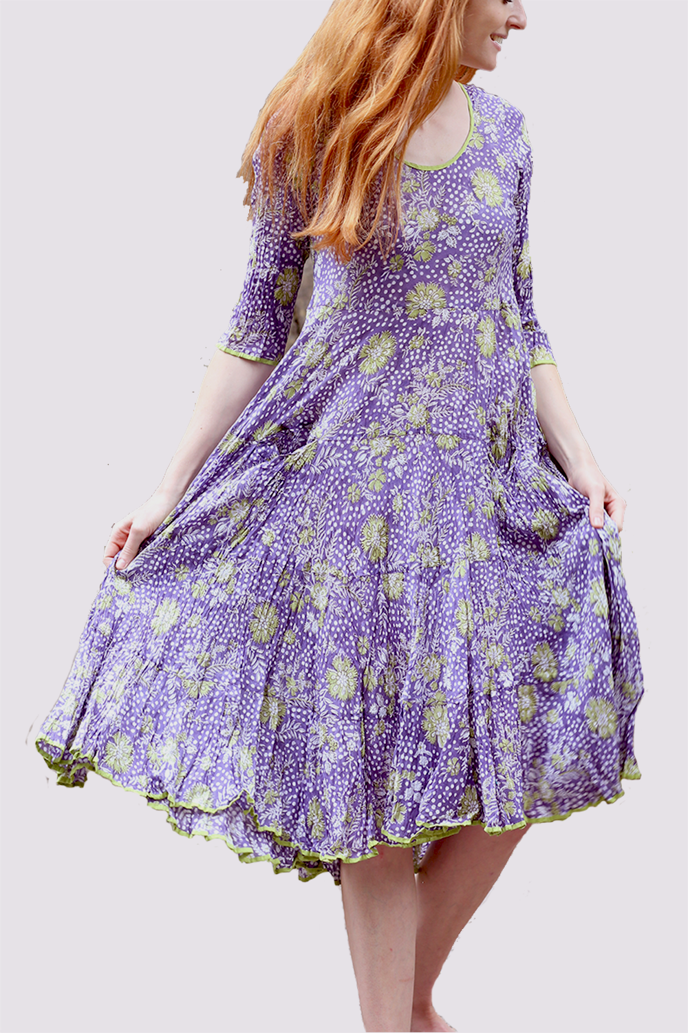 Nila Rubia Ruby Sun Dress in Lilac and Lime