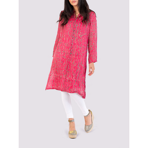 Nila Rubia Bamboo Silk Shirtdress in Pink