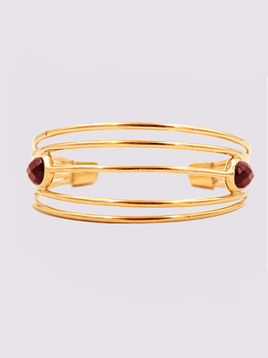 Ori Tao Fakir big bracelet in burgundy