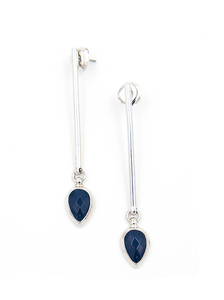Ori Tao Navy Fakir drop earrings