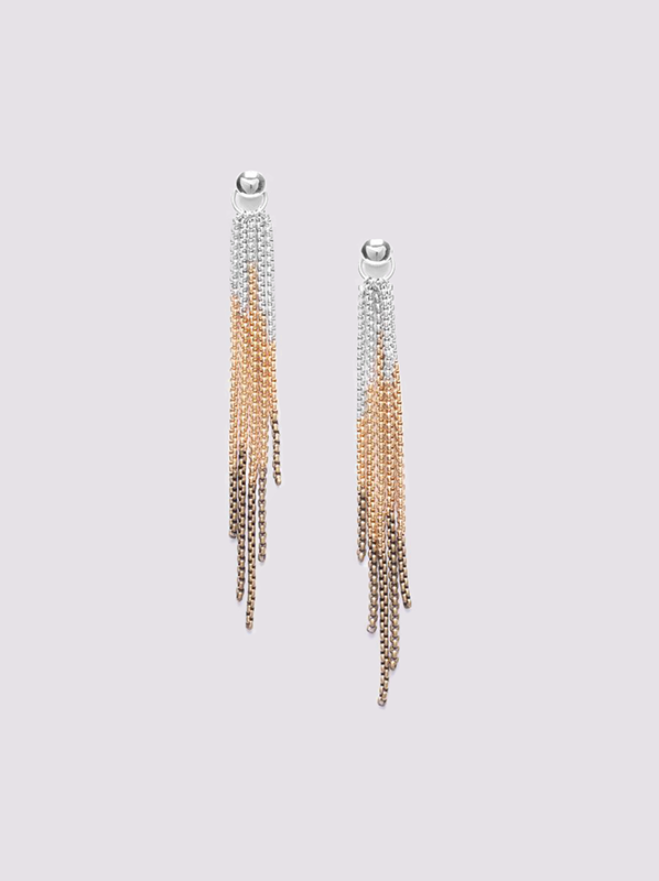 Ori Tao Flamme 5 rows earrings