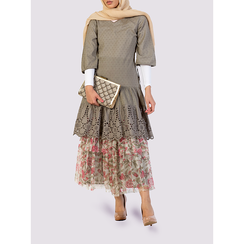 Rhum Raisin Khaki Dress
