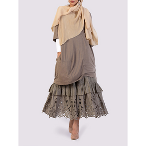 Rhum Raisin maxi khaki skirt
