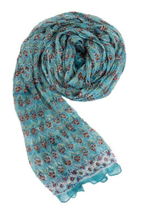 Chiffon Scarf in Turquoise