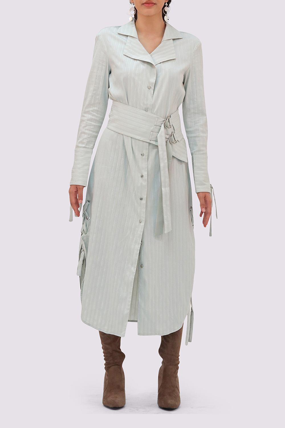 Smart and Joy Ice Mint Shirtdress