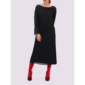 Thais & Stroe Black veil dress