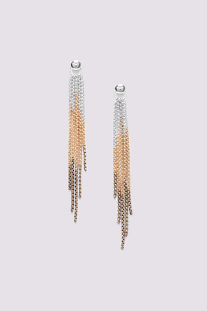 ORI TAO FLAMME 5 row long earrings