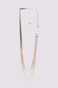 ORI TAO FLAMME 5 row long necklace