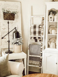 Wooden Blanket Ladder - White Distressed