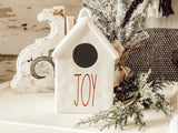 Ceramic JOY Birdhouse