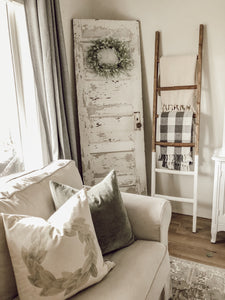 Wooden Blanket Ladder - White Dipped