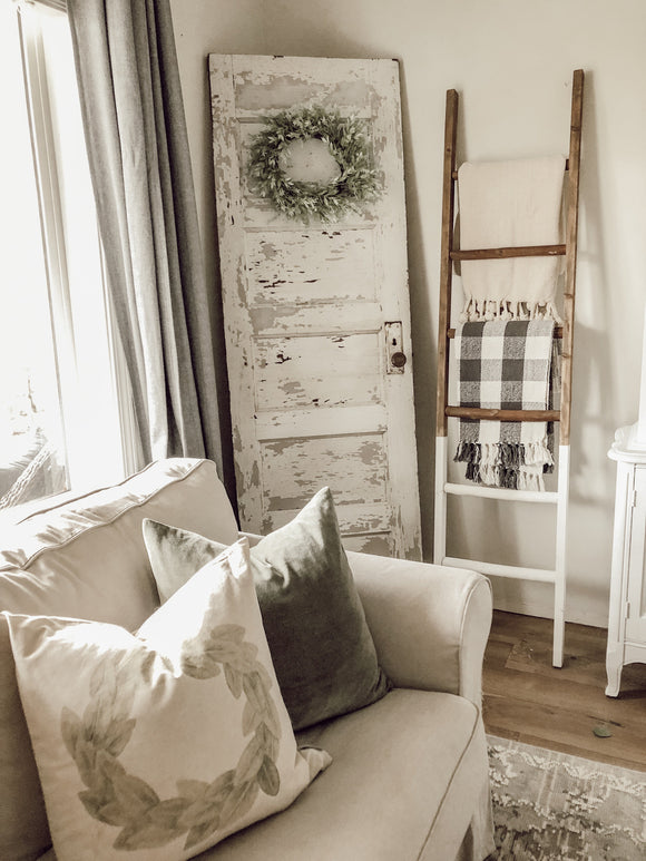 Wooden Blanket Ladder - Black dipped