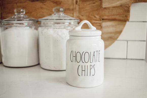 Chocolate Chip Ceramic Canister
