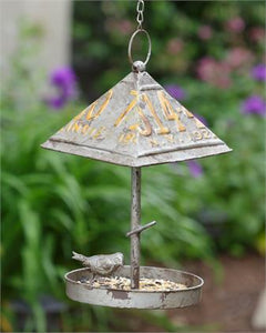 Rustic License Plate Bird Feeder