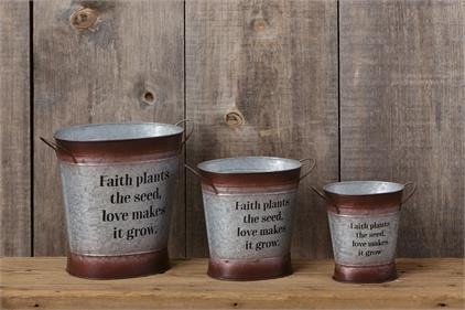 Faith Plants the Seed Buckets (3 sizes)