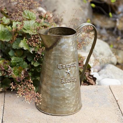 Country Living Metal Pitcher